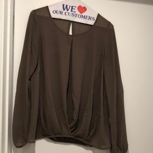 Great almond color blouse for work and weekends!